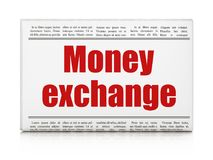 Banking concept: newspaper headline Money Exchange. On White background, 3D rendering Royalty Free Stock Photography