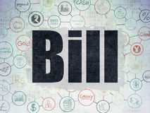 Banking concept: Bill on Digital Data Paper background Royalty Free Stock Image