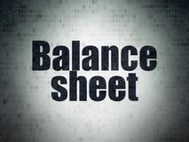 Banking concept: Balance Sheet on Digital Data Paper background. Banking concept: Painted black word Balance Sheet on Digital Data Paper background Royalty Free Stock Photo