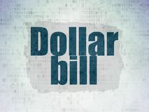 Banking concept: Dollar Bill on Digital Data Paper background Stock Photos