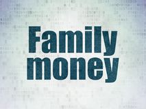 Banking concept: Family Money on Digital Data Paper background. Banking concept: Painted blue word Family Money on Digital Data Paper background Royalty Free Stock Photography