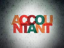 Banking concept: Accountant on Digital Data Paper background. Banking concept: Painted multicolor text Accountant on Digital Data Paper background Stock Photo