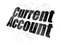 Banking concept: Current Account on Digital background Royalty Free Stock Photo