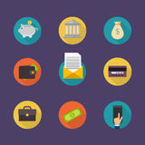 Banking concept. Set of flat icon banking, finance operations Stock Image