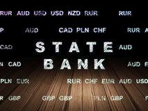 Banking concept: State Bank in grunge dark room Royalty Free Stock Image