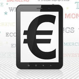 Banking concept: Tablet Computer with Euro on Royalty Free Stock Photo