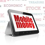 Banking concept: Tablet Computer with Mobile Money on display Stock Photo