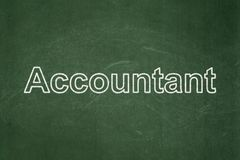 Banking concept: Accountant on chalkboard background. Banking concept: text Accountant on Green chalkboard background Stock Images