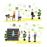 Banking concept vector illustration in flat style Royalty Free Stock Photography
