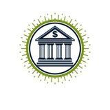 Banking conceptual logo, unique vector symbol. Banking system. Creative and conceptual sign Royalty Free Stock Photo