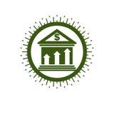 Banking conceptual logo, unique vector symbol. Banking system. Creative and conceptual sign Royalty Free Stock Photos