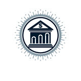 Banking conceptual logo, unique vector symbol. Banking system. Stock Images