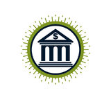 Banking conceptual logo, unique vector symbol. Banking system. Royalty Free Stock Images