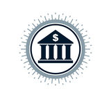 Banking conceptual logo, unique vector symbol. Banking system. Stock Image