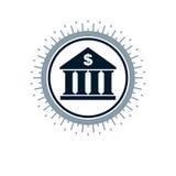 Banking conceptual logo, unique vector symbol. Banking system. Creative and conceptual sign Stock Image