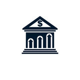 Banking conceptual logo, unique vector symbol. Banking system. T. He Global Financial System. Circulation of Money Stock Image