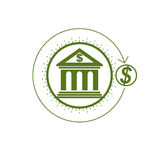 Banking conceptual logo, unique vector symbol. Banking system. T. He Global Financial System. Circulation of Money Stock Photo