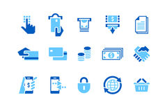 Banking & Credit Card_Icons Stock Photography