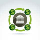 Banking credit and deposit money theme icon, vector conceptual s Royalty Free Stock Photo