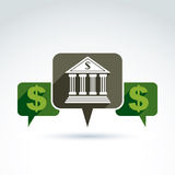 Banking credit and deposit money theme icon, vector conceptual s Stock Photos