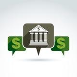 Banking credit and deposit money theme icon, vector conceptual s Stock Photos