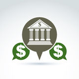 Banking credit and deposit money theme icon, vector conceptual s Stock Photography