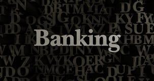 Banking - 3D rendered metallic typeset headline illustration Royalty Free Stock Photo