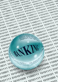 Banking on data Royalty Free Stock Photo