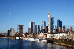 Banking district in Frankfurt am Main Stock Image