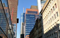 Banking district in Germany. Royalty Free Stock Photography