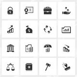 Banking and Economy Icons Royalty Free Stock Image