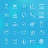 Banking Finance Business Money Line Icons Set Royalty Free Stock Photography