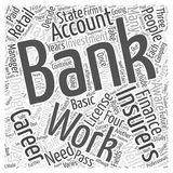 Banking and Finance Careers word cloud concept  background. Text Stock Photo