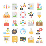Banking and Finance Colored Icons 5 Stock Photos
