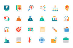 Banking and Finance Colored Vector Icons 1 Stock Photos