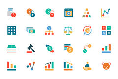 Banking and Finance Colored Vector Icons 2 Royalty Free Stock Images