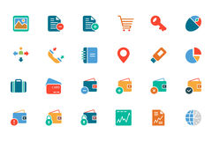 Banking and Finance Colored Vector Icons 5 Royalty Free Stock Photography