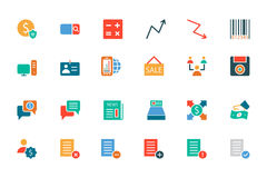 Banking and Finance Colored Vector Icons 9 Royalty Free Stock Images