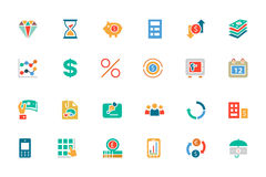 Banking and Finance Colored Vector Icons 7 Stock Photo