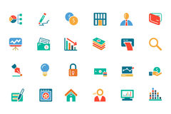 Banking and Finance Colored Vector Icons 6. Need a little financial stability after all that Christmas gift giving? Make a design plan with your Colored Royalty Free Stock Image