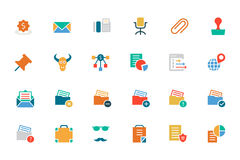 Banking and Finance Colored Vector Icons 8 Royalty Free Stock Images