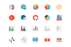 Banking and Finance Colored Vector Icons 11 Stock Image