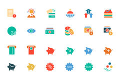 Banking and Finance Colored Vector Icons 10 Stock Photography