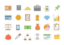 Banking and finance colorful icons set Royalty Free Stock Photography