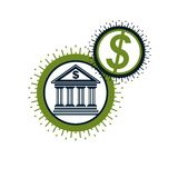 Banking and Finance conceptual logo, unique  symbol. Banki Royalty Free Stock Photo
