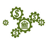 Banking and Finance conceptual logo, unique vector symbol. Banki. Ng system. The Global Financial System. Circulation of Money Royalty Free Stock Photos