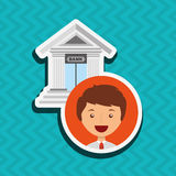 Banking and finance design. Illustration eps10 graphic Stock Images