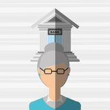 Banking and finance design. Illustration eps10 graphic Royalty Free Stock Photos