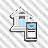 Banking and finance design. Illustration eps10 graphic Royalty Free Stock Photography