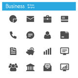 Banking and finance gray flat icons Stock Photo